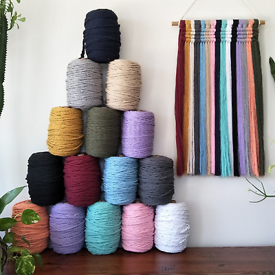 5 rolls of macrame cord choose a variety of colours bulk buy 3 strand twisted