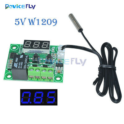 DC 5V W1209 Blue LED Thermostat Temperature Switch Thermometer Controller Sensor