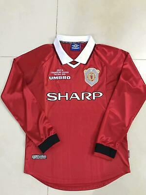 Manchester United soccer 1999  Retro Home Jersey LS