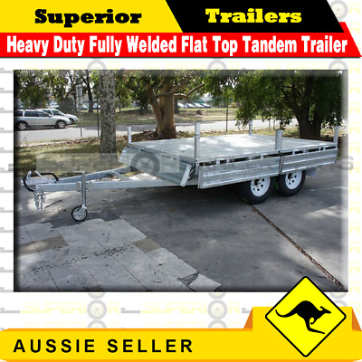 Superior 10×7 Heavy Duty Fully Welded Flat Top Tandem Trailer ATM 3200KG
