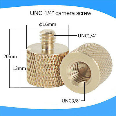 3/8 Inch Female to 1/4 Inch Male Tripod Thread Reducer Adapter Brass Copper