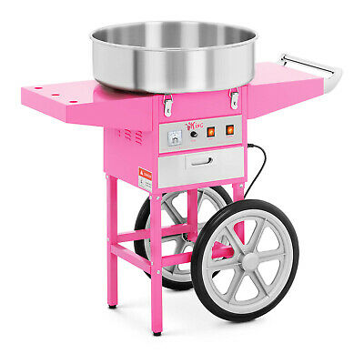 Candy Floss Machine Cotton Candy Maker With Wagon Cart 1200W Pink  Commercial