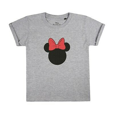 Disney - Minnie Silhouette - Official - Girls - T-shirt - Grey