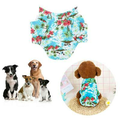 Pet Spring Summer Hawaiian Style Print Cotton Clothes Dog Puppy Casual Vest