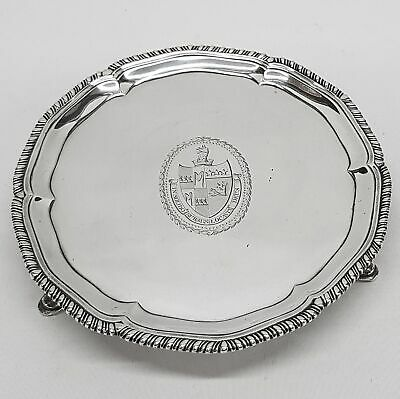George III Silver Salver Made by ROBERT MAKEPEACE & RICHARD CARTER Stock ID 9431