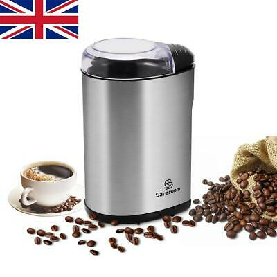 Electric Stainless Steel Blade Coffee Grinder 200W Bean Nut Spice Mill Blender