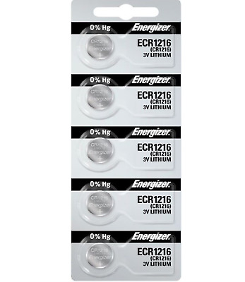 Energizer CR1216 Watch Batteries Lithium Battery Cell (5 Coin Cells)