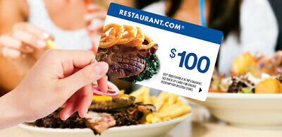 $100 Restaurant.com - Nationwide - Gift Cards [Free Shipping] - No Expiration