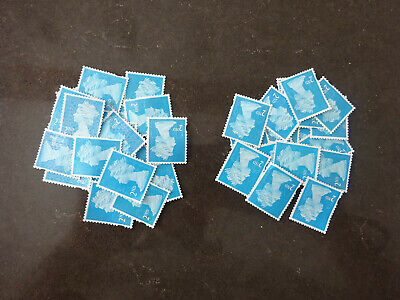 40.x 2nd Class Unfranked Stamps Off Paper No Gum  CHEAP  £9.67 Face Value £24.40