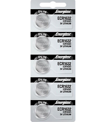Energizer CR1632 Watch Batteries Lithium Battery Cell (5 Coin Cells)