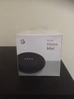 Google Home Mini Smart Assistant - Charcoal - Brand New Sealed Box
