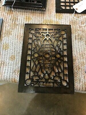 J 29 Antique Cast-Iron Heating grate face 9 13/16 x 13.75