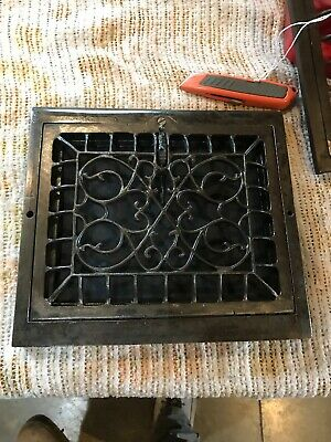 J 35 antique wall mount heating grate swirly Design 10 5/8 x 12
