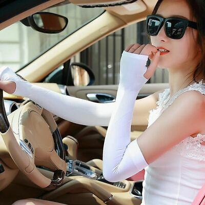 Women UV Protection Long Gloves Drive Gloves Oversleeves Ladies Summer Mittens
