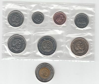 W4 CANADA 2006/2006p PROOF-LIKE SET- TOONIE MISSING GOLD CENTER/LOOKS SILVER