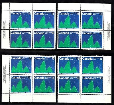 Vc997 Canada #679 Ms Plate Block Stamps M Nh    Big Discount On S&H 4 - 40 Lots