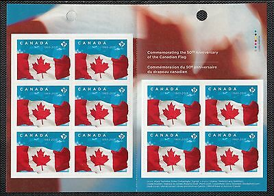 VC444 CANADA - BOOKLET 2015 50th ANNIV. FLAG 10 X P (.85c) MINT NH VF PEELABLE