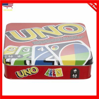 UNO Cards The Official Uno Tin Family Games Playing Makes a Great Gift Travel