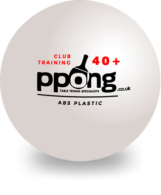 Table Tennis PPong Balls x100 Training New Materials Plastic White Free Postage