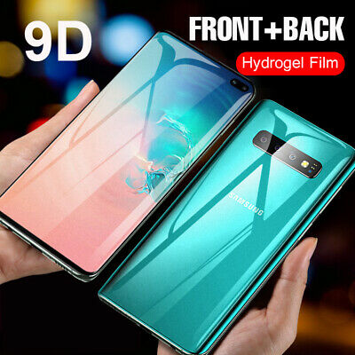 9D Hydrogel Front Back Matte Screen Film For Samsung Note 10 Pro S10 S9 S8 Plus