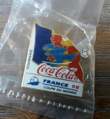Pins Football Footix Coca Cola France 98 World Cup Equipe Roumanie