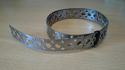 Engineers Stainless Steel Metal Punched Perforated Strip Strap (1 Metre)