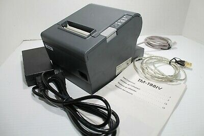 Epson TM-T88IV Point Of Sale Thermal Receipt Printer M129H with Cables