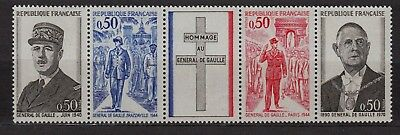 **Bande timbres France GENERAL DE GAULLE n°1698A (1971) Neuf**MNH**TBE