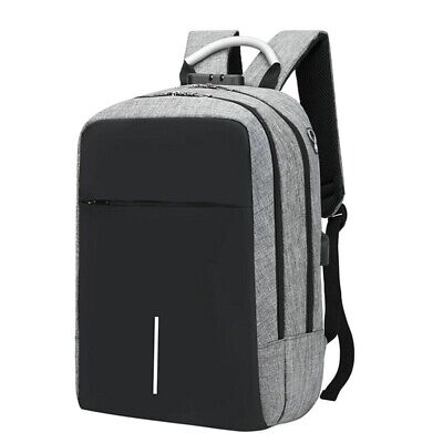 1X(Usb Charging Laptop Backpack 15.6Inch Antitheft Waterproof Large Capacit T9D4