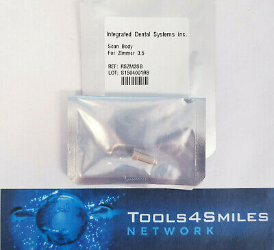 Integrated Dental Systems Scan Body for Zimmer Dental Screw-Vent 3.5mm