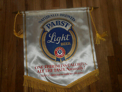Vintage Naturally Brewed Pabst Blue Ribbon Light Beer Banner