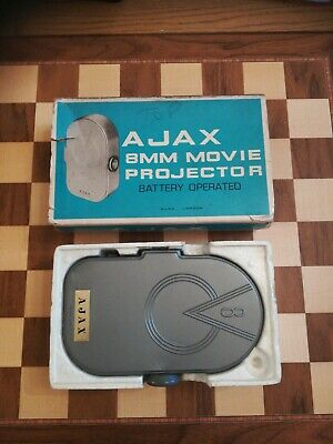 VINTAGE Circa 1960s AJAX 8mm MOVIE PROJECTOR BOXED ** NOT WORKING **