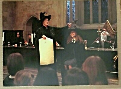 Harry Potter & the Philosophers Stone Postcard - Hermione meets the Sorting Hat