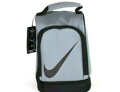 Nike Lunch Bag Tote Contrast Insulated Dark Cool Gray/Black Box 9A2546 146 New