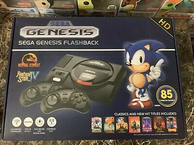 Sega Genesis Flashback HD Game Console Wireless Controllers 85 Built-in Games