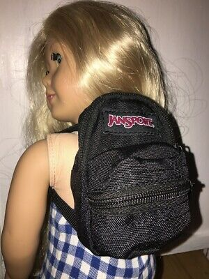 "Mini Backpack Fits 18"" American girl Boy Doll School Supplies Accessory Black"