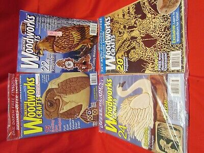 Lot of 4 CREATIVE WOODWORKS & CRAFTS, Patterns, 3 Unopened