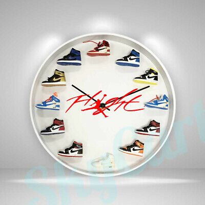 "New Handcrafted 12"" 3D Jordan Sneakers clock OFF white nike supreme fieg yeezy"