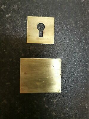 Brass plate escutcheon and cartouche for vintage/antique writing slope