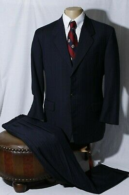 Tom James Royal Classic Men's Hand Tailored 3 Btn Suit Surgeon Cuff 42R