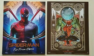 """1 x pair Spider-Man Far From Home limited edition posters. Marvel New 8""""x10"""""""