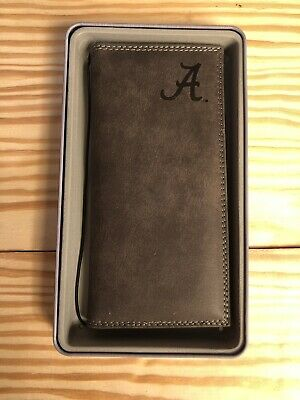 ZEP-PRO Alabama Crimson Tide Grey Leather Embossed Roper Wallet Checkbook