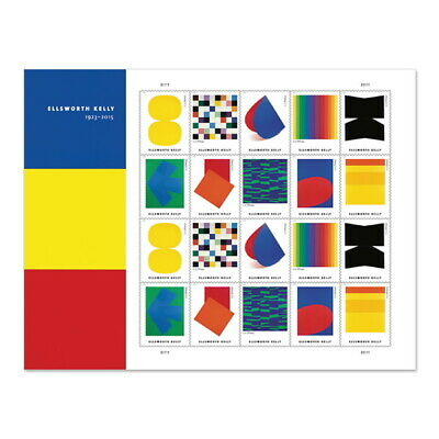 US Ellsworth Kelly Paintings Pane of 20 Available After June 10 2019