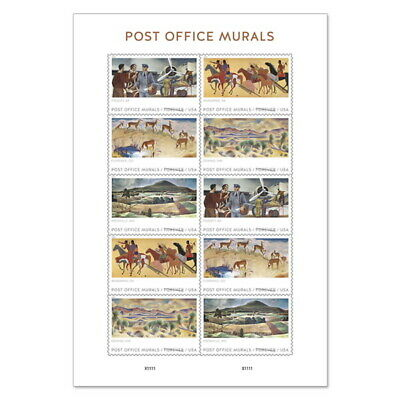 US Post Office Murals Pane of 10 Available After April 20 2019