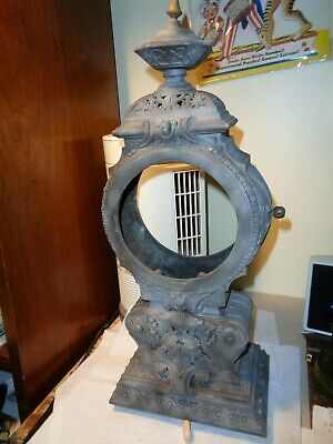 Large-Ansonia-Statue Clock-Case Tower-Ca.1895-To Restore/Parts-#T571
