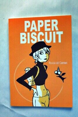 original signed Paper Biscuit by Ronnie del Carmen with small original sketch
