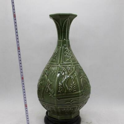 Chinese ancient antique hand make open slice carving vase a98