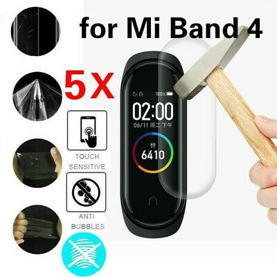 5Pcs 0.1mm Clear LCD TPU Full Cover Screen Protector Film for Xiaomi Mi Band 4