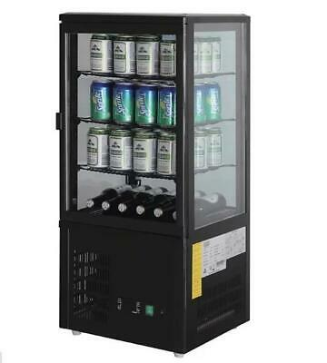 Polar CS627-A Chilled Display Cabinet 68Lt Black Countertop Cake Refrigerated