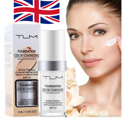 UK Magic Flawless Color Changing Foundation TLM Makeup Change Skin Tone CC HOT!!